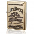Genuine Zippo High Polish Brass Jim Beam Emblem Fuel Fluid Lighter
