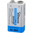 MAXUSS Rechargeable Ni-MH 9V 260mAh Battery