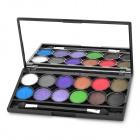 Cosmetic Make-Up 12-Color Eye Shadow Kit with Mirror + Brush