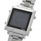 Unique XXCOM Stainless Steel Band Digital Wristwatch with Date/Stopwatch/Alarm (1*CR2025)