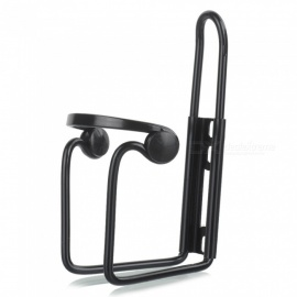 Mountain Bike Kettle Rack, Double Pearl Aluminum Alloy Water Frame - Black