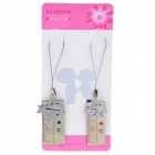 Unique Valentines' Zinc Alloy Cell Phone Straps - Rulers (2-Piece Set)