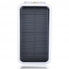 Solar Powered Rechargeable 2600mAh Portable Power Pack with 6-LED Flashlight + Red Laser (Black)
