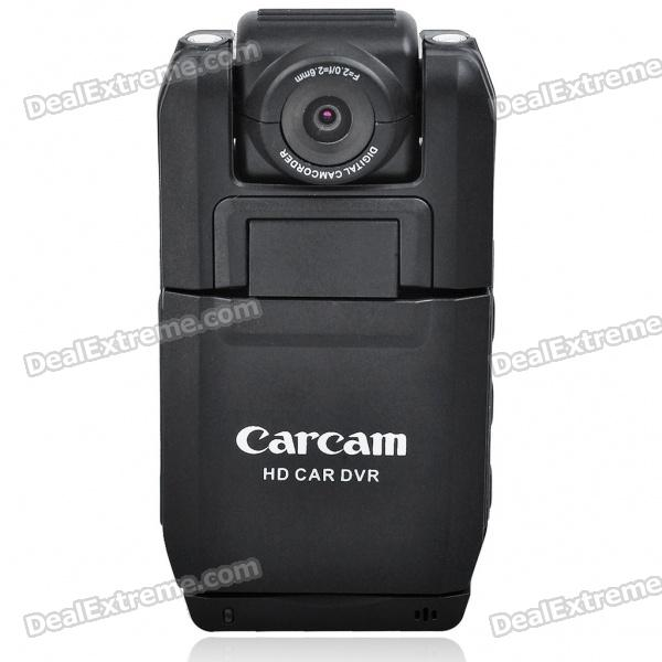 1.3 MP Wide Angle 2-LED Flash Digital Car DVR Camcorder w/ Motion Detection/Mini USB/TF (2.0