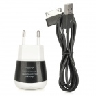 Stylish Mini USB Power Adapter with USB Data + Charging Cable for Samsung P1000 (110~240V)