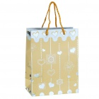 Lovely Gift Paper Bag - Yellow + Silver (Small)