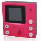 "1.5"" TFT LCD Video Memo Message Recorder with Magnet - Rose Red (2*AAA)"