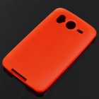 Protective Matte Soft PS Backside Case w/ Screen Guards + Cleaning Cloth for HTC Desire HD - Red