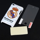 Protective Back Case with Real Madrid Logo + Screen Protector + Cleaning Cloth for iPod Touch 4