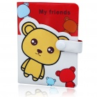 Cute Cartoon Figure Pattern Leather Card Holder (Holds 24-Piece/Color Assorted))