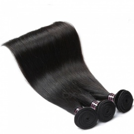 Brazilian Straight Hair Weave 3 Bundles Deal 100% Straight Human Hair Extensions Natural Color Non Remy Hair Weaving 26 26 26