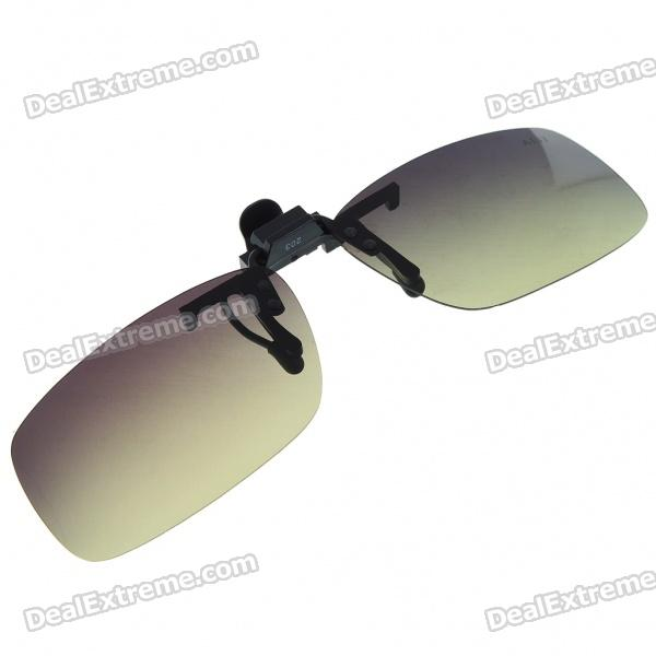 Clip-on UV400 Protection Resin Lens Attachment Sunglasses - Medium