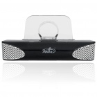 Mini Portable Charging Dock & Speaker with USB Cable for iPhone 3G/4 - Black