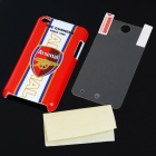 Protective Arsenal Style Back Case with Screen Guard + Cleaning Cloth for iPod Touch 4
