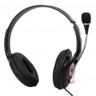 Stylish USB Multimedia Stereo Headset with Microphone and Volume Control - Black (2.4M-Length)