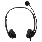 Stylish USB Multimedia Stereo Headset with Microphone and Volume Control - Black (2.2M-Length)