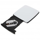 Slim USB External DVD/CD Writer Burner - White