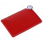 Elegant Stainless Steel Mirror with Leather Case