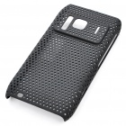 Protective Plastic Mesh Backside Case with Screen Guard + Cleaning Cloth for Nokia N8 - Black