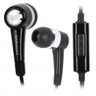 Genuine Noise Isolation In-Ear Earphone w/ Microphone for Samsung P1000 (3.5mm Jack/120CM-Cable)