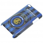 Protective Back Case with Inter Milan Logo + Screen Protector + Cleaning Cloth for iPod Touch 4