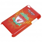Protective Back Case with Liverpool FC Logo + Screen Protector + Cleaning Cloth for iPod Touch 4