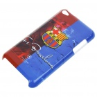 Protective Back Case with FC Barcelona Logo + Screen Protector + Cleaning Cloth for iPod Touch 4