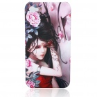 Protective Plastic Back Case with Beauty Pattern for iPhone 4