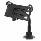 Plastic Car Swivel Mount Holder with Suction Cup for HTC Desire HD - Black