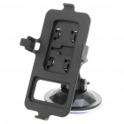 Car ABS Swivel Mount Holder with Suction Cup for Nokia N8 - Black