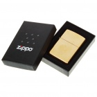 Genuine Zippo Metal Fuel Fluid Lighter - Golden