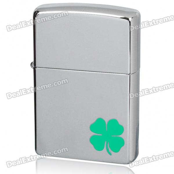 Genuine Zippo Lucky Leaf Clover Pattern Fuel Fluid Lighter
