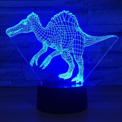 Spinosaurus Dinosaur LED 3D Visual Night Light Creative Bedroom Decoration Night Lamp 3D Lights Changeable/Clear/3w