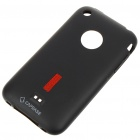 Rubber Silicone Backside Case with Screen Guard + Pouch + Stand for Iphone 3g/3GS (Black)