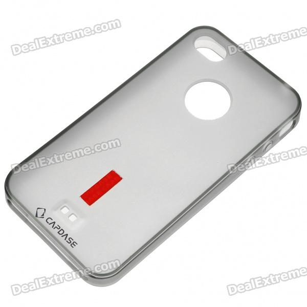 Silicone Backside Case with Screen Guard + Pouch + Stand for Iphone 4 (Translucent Black) protective silicone case for nds lite translucent white