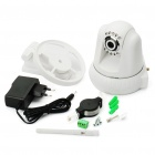 300KP Security Wireless CCTV IP Camera w/ 10-LED Night Vision/Microphone/Motion Detection - White