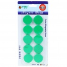 Round Magnetic Button Fridge/Blackboard Magnets - Green (10-Piece Pack)