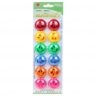 Smile Face Round Magnetic Button Fridge/Blackboard Magnets (12-Piece Pack/Color Assorted)
