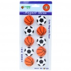 Soccer/Basket Ball Magnetic Button Fridge/Blackboard Magnets (10-Piece Pack)