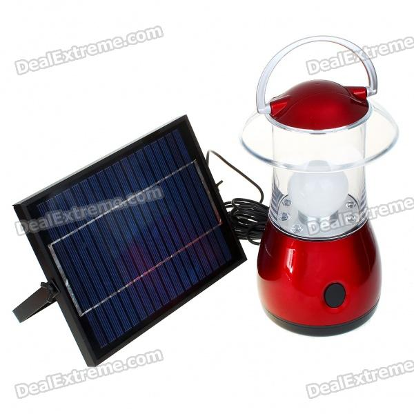 Solar Power Rechargeable 4000mAh 1-LED Camping Lantern weiße Glühlampe w / 6-LED Multi-Farb-Licht