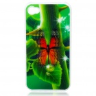 Protective PC Back Case with 3D Graphic for Iphone 4 - Butterfly