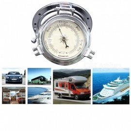 IZTOSS B3764B-S Roman Retro Barometers for Car, Yachts, Ship - Silver