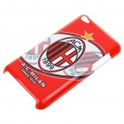 Protective Plastic Back Case + Screen Protector + Cleaning Cloth for iPod Touch 4 - A.C.Milan