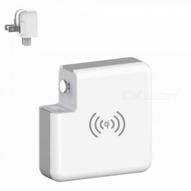 Ismartdigi PW6700 5V 2.4A 6700mAh Power Bank + Wireless Charger with US Plug for Mobile Phone IPHONE Samsung Sony - White