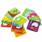 Lovely Cartoon Style Paper Coaster (15-Piece/Style Assorted)