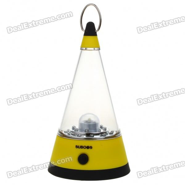 Outdoor 3-Mode 21-LED Portable Camping Fishing White Light Lamp lantern - Yellow (4*AA)