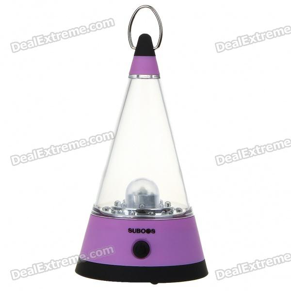 Outdoor 3-Mode 21-LED Portable Camping Fishing White Light Lamp lantern - Purple (4*AA)