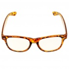 Fashion Tiger Stripes Frame Style Eyeglasses