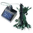 Solar Self-Recharge 60-LED Tree Light (Green LEDs)