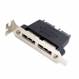 CY SA-216 Dual Port SATA 7pin to Esata 7Pin Adapter, Male to Male with Low Profile PCI-E Bracket